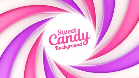 Sweet candy background with place for your content Illusztráció