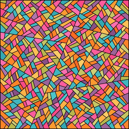 Abstract colorful stained glass vector background. Easy to change colors