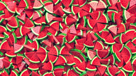 Heap of watermelon slices abstract background Zdjęcie Seryjne