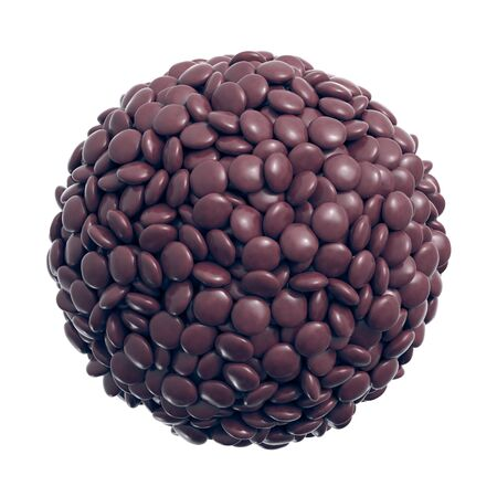 Colorful coated chocolate candies in the shape of a sphere