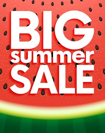 Big summer sale on watermelon surface texture with seeds
