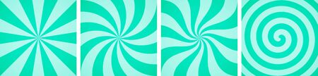 Set of sweet mint candy abstract vector backgrounds Vettoriali