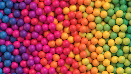 Colorful balls background. Abstract background with colorful gradient balls. Vector background