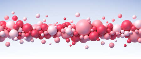 Abstract composition with flying balls in different sizes vector background