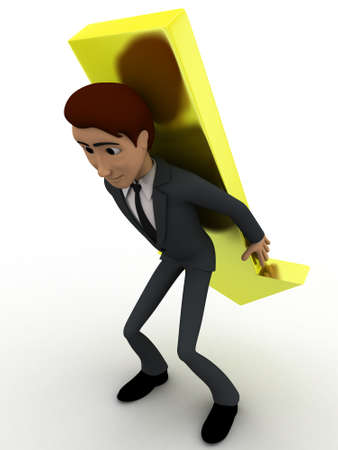 choose a path: 3d man choose from three different path and on arrow concept on white background,side angle view