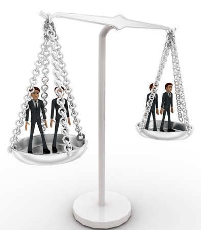 weighing scale: 3d men standing inside weighing scale concept on white background,  side angle view