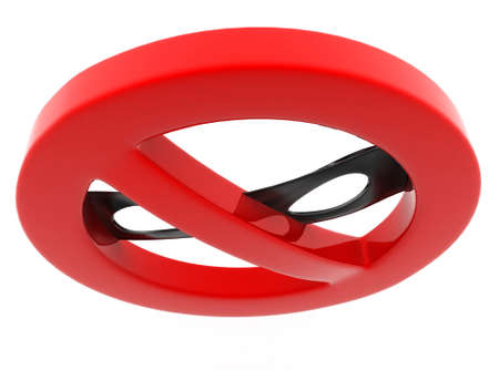 hid: 3d spy no entry  concept t on white background - 3d rendering , top angle view Stock Photo