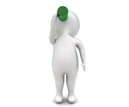 softdrink: 3d man having softdrink concept in white isolated background - 3d rendering ,  front angle view