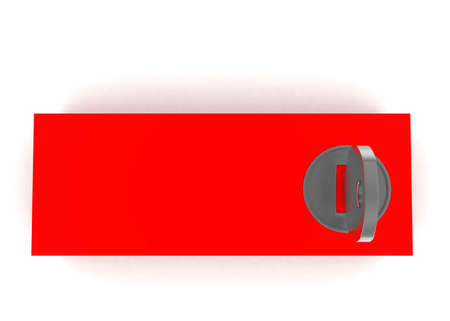 lockbox: 3d lockbox concept in white isolated background - 3d rendering ,  top angle view