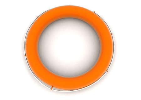 floater: 3d water floater conept in white isolated background - 3d rendering ,  top angle view