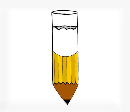 attached: a glass of milk attached to pencil concept