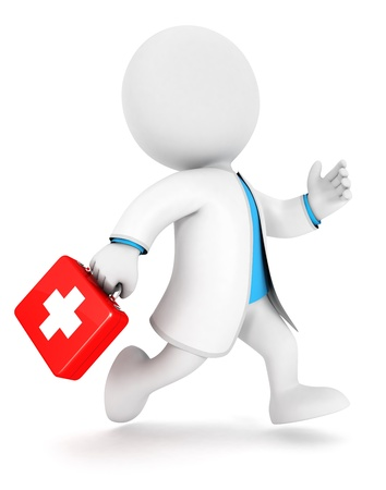 3d white people first aid, isolated white background, 3d image photo