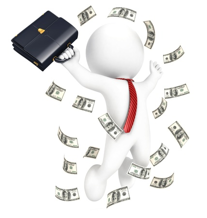 millionaire: 3d white people rich businessman, isolated white background, 3d image
