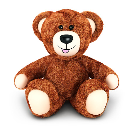3d teddy bear, isolated white background, 3d image photo