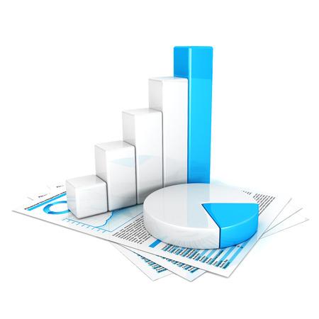 3d statistieken, witte achtergrond, 3d beeld
