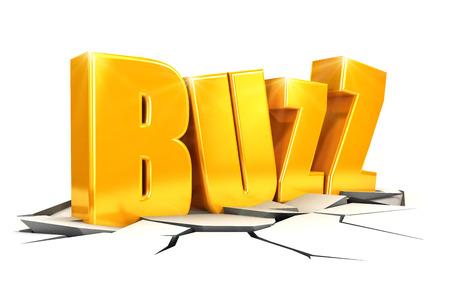 buzz: 3d buzz concept Stock Photo