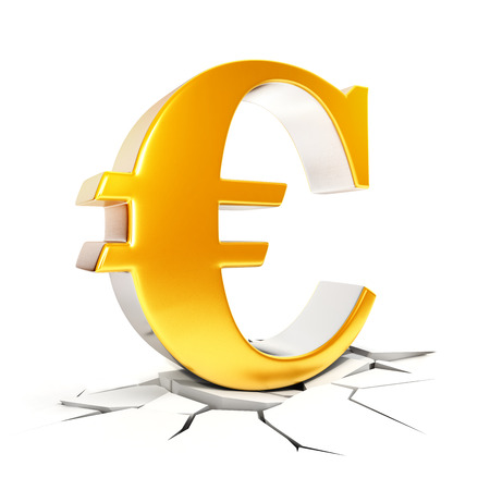 euro sign: 3d euro sign, isolated white background, 3d image