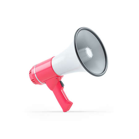 3d illustration of megaphone, illustration isolated on white background