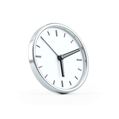 3d illustration of wall clock, illustration isolated on white background Banque d'images