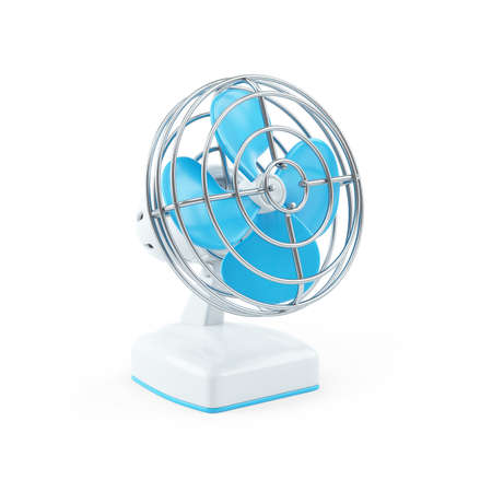 3d illustration of a table fan, illustration isolated on white background