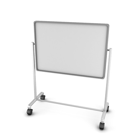 Empty office board isolated on white background. 3D render image. photo