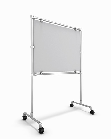 whitw: Empty whitw office board isolated on white background. 3d render image.