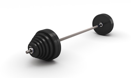 kilos: Barbell isolated on white background. 3d illustration