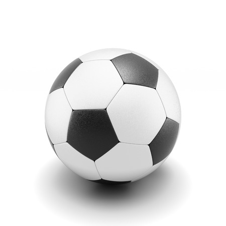 Soccer ball isolate on white background. 3d render image. photo
