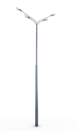 Street lamppost isolated on white background. 3d illustration. illustration