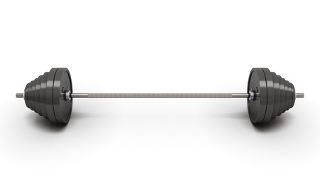kilos: Barbell weight isolated on white background. 3d render image. Stock Photo