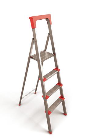 reachability: Stepladder isolated on white background