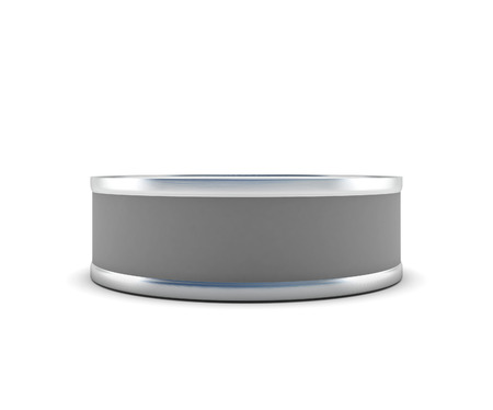 tin: Closed tin can for your design. Closed tin can front view isolated on white background. 3d illustration.