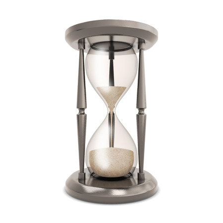 hourglass: Hourglass isolated on white background. Retro hourglass counting down the time.