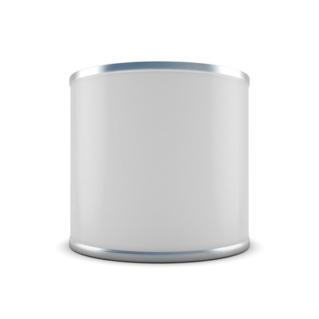 tin can: Template closed tin can close-up for your design. 3d illustration. Stock Photo