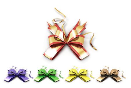 celebratory: Set of multicolored ribbons. Set of celebratory bows.
