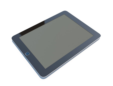 Tablet computer isolated on the white backgrounds. 3d render image. photo