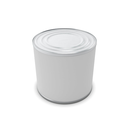 tin can: Template closed tin can for your design. 3d render image.