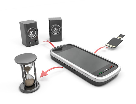microdrive: The concept features a mobile phone. Your phone as a clock radio and drive.