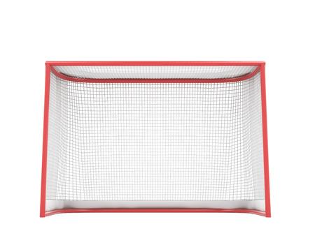 hockey rink: Hockey gates isolated on white background. 3d illustration.