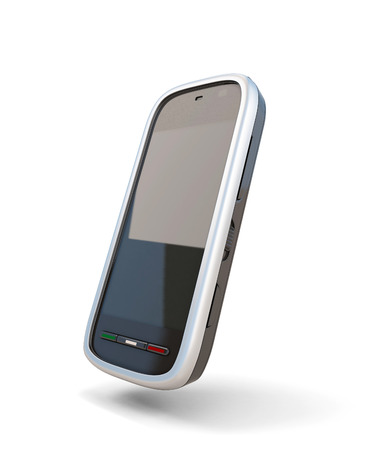 Modern mobile phone isolate on white background. photo