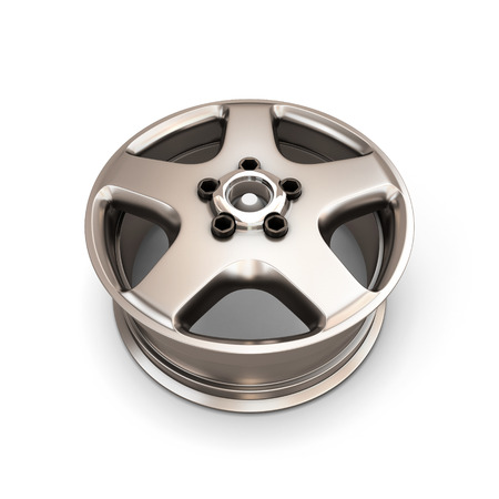 alloy: Alloy Wheel Rim isolated on white background. 3d render image.