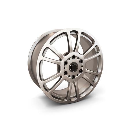alloy wheel: Alloy Wheel Rim isolated on white background. 3d illustration. Stock Photo