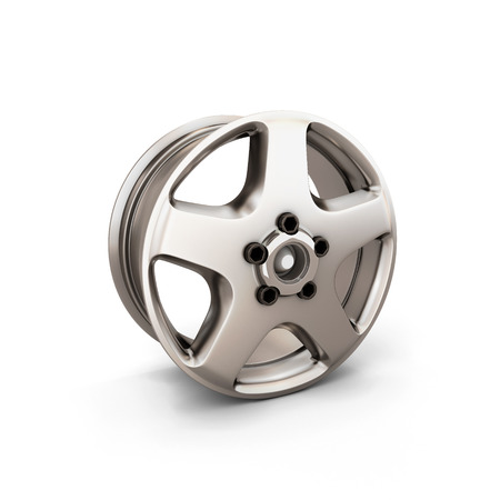 alloy: Alloy Wheel Rim on a white background. 3d render image.