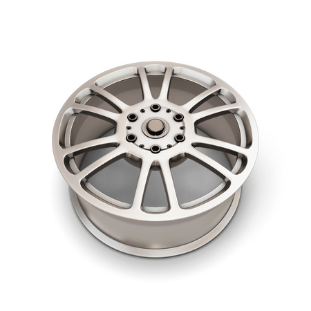 alloy wheel: Alloy Wheel Rim on a white background. 3d illustartion.