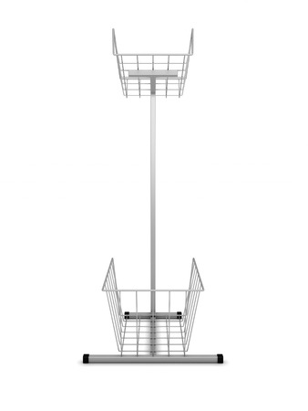 Rack for information materials front view isolated on a white. 3d illustration. illustration
