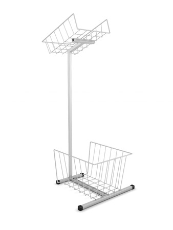 Rack for promotional materials isolated on white background. 3d render image. photo