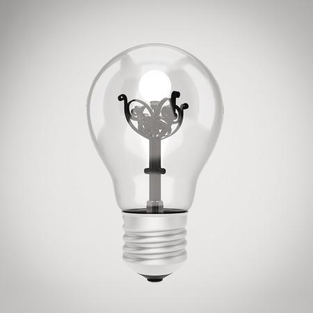 streetlight: Bulb with a streetlight inside. 3d illustration.