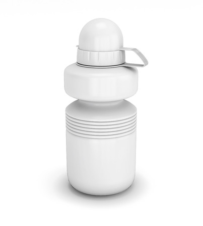 collapsible: Template collapsible sport water bottle for your design. 3d illustration. Stock Photo