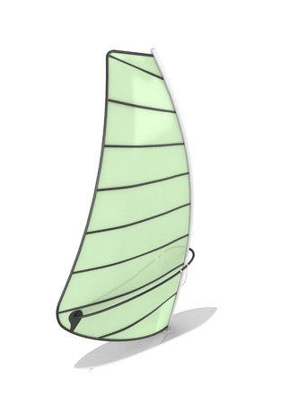 sailboard: Sailboard isolate on white background. 3d render image.
