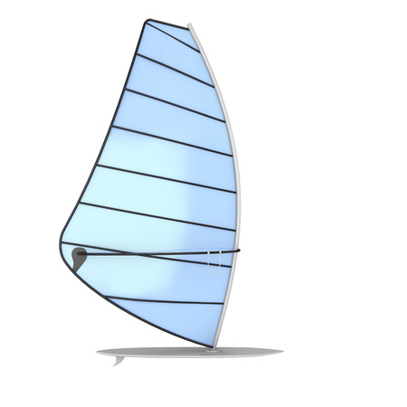 sailboard: Sailboard isolated on white background. Windsurf board. 3d illustration.